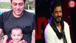 Salman Khan Bonds With Nephew Ahil | Shahrukh Says He Can