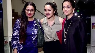 CUTE Shraddha Kapoor With Family After Watching Half Girlfriend
