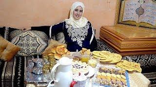 ضهوري لمباركة العيد مع اقتراحات لمائدة عيد الفطر المغربية مسمن بطريقة مختلفة وكريصات رووعة عيد مبارك