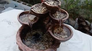 A red copper water fountain نافورة ماء نحاسية