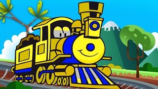 Trains for Children  Choo Choo Train Learn to count - shapes and colors  Kids Trains Cartoons part 1