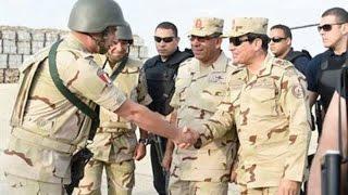 زيارة الرئيس السيسى لسيناء بالزى العسكرى بعد الاحداث الاخيرة