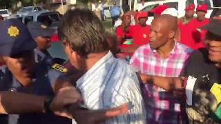 EFF supporters beat up a parent at Hoërskool Overvaal