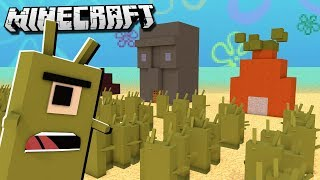 BIKINI BOTTOM BASE vs. PLANKTON in Minecraft!