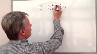 How to work out the HCF - Highest Common Factor - the easy way