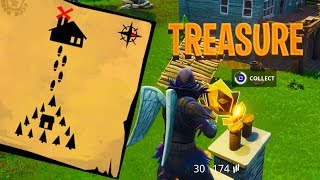 MOISTY MIRE TREASURE MAP LOCATION - Fortnite: Battle Royale
