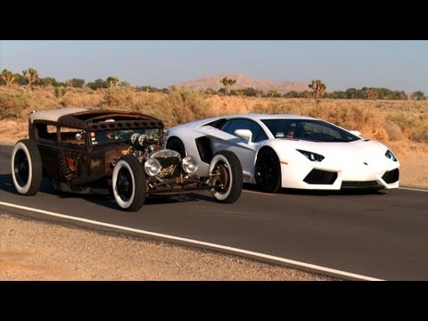 Rat Rod vs Lamborghini Aventador Roadkill Episode 5