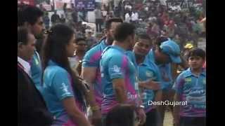 Bollywood star Salman Khan at CCL match in Ahmedabad Gujarat