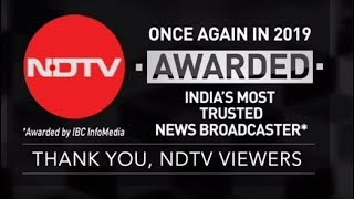 NDTV Awarded India's Most Trusted News Broadcaster