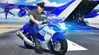Police Airplane Moto Transport Bike - Android Gameplay HD | Police Games For Kids by Slash Studios
