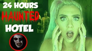24 HOURS IN A HAUNTED HOTEL! GAME MASTER? HACKER? SOLVE THE CLUES!