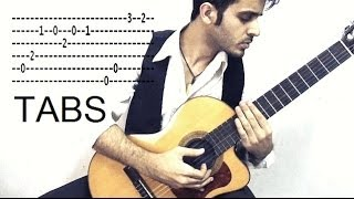 El Mariachi Siente mi amor sad spanish theme w/ TABS - from once upon a time in mexico