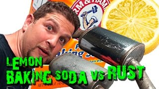 Baking Soda and Lemon Juice for Rust Removal