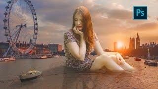 Giant Girl | Photo Manipulation Tutorial | Photoshop