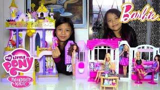 Barbie Doll Glam Getaway House My Little Pony (MLP) Cutie Mark Magic Canterlot Castle