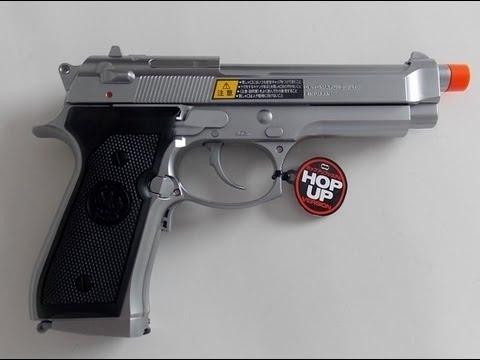 Pistola Airsoft Elétrica Tokyo Marui M92F Military EBB Pistol SILVER 6mm