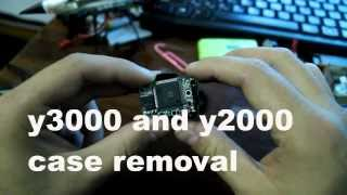 removing cover from y3000 HD and y2000 DV cameras and fixing lens with epoxy glue