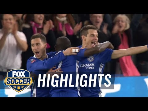 Kante's goal makes it 1-0 for Chelsea vs. Manchester United | 2016-17 FA Cup Highlights