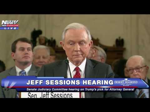FNN Protesters Scream During Jeff Sessions Senate Hearing