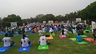 Narendra Modi Celebrating International Yoga Day 2018 in Delhi