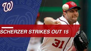 Max Scherzer dazzles as he strikes out 15 vs. Phillies