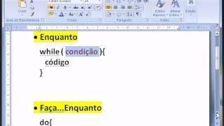 Programação C - Aula 07 - while, do-while, for - Estruturas de repetição