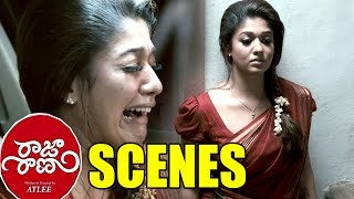 Raja Rani Movie Scenes - Heart Touching Emotional Scene Regina Crying For Surya - Nayanthara