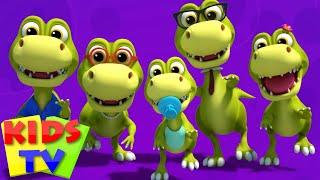 Dinosaurs Finger Family Dino Song Nursery Rhymes Kids Songs Baby Rhymes kids tv S03 EP01