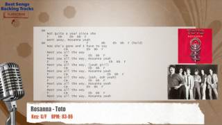 Rosanna - Toto Vocal Backing Track with chords and lyrics