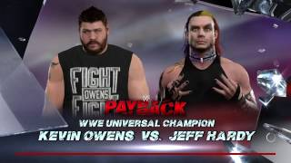 WWE 2K17 Jeff Hardy VS Kevin Owens In A TLC Match For The WWE Universal Title
