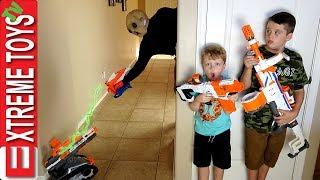 Alien Sabotage! Nerf Extra Terrestrial Attack!