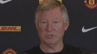 Sir Alex Ferguson swears at press conference