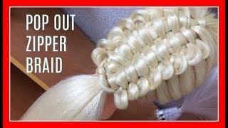 ZIPPER BRAID HAIRSTYLE / HairGlamour Styles /  Braids Hair Tutorial
