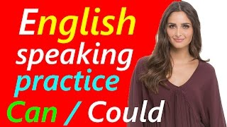 English Speaking Practice | Can and Could sentences कर सकते हैं | English grammar in Hindi Urdu