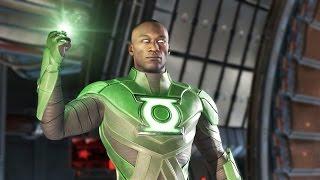 INJUSTICE 2 All John Stewart Green Lantern Intros, Clahes, Banter and Supermove