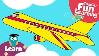 Let's Build a Plane | Toddler Fun Learning | Plane video for toddlers