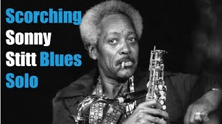 Blistering Sonny Stitt   Blues Sax solo transcription - free pdf download