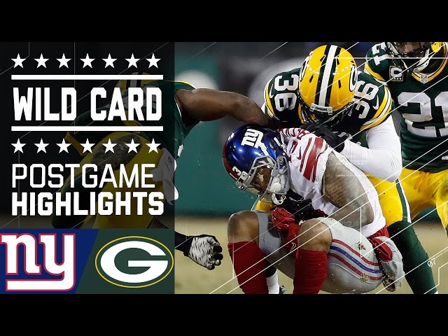 Giants vs. Packers   NFL Wild Card Game Highlights