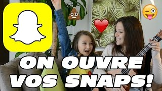 ON OUVRE VOS SNAPCHATS // Sat'n'Co