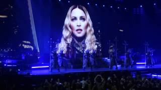 Madonna Performing Iconic Live. Rebel Heart Tour. Edmonton. October 11, 2015.