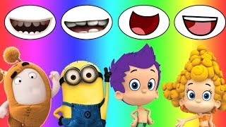 Colors for children Wrong Mouth Bad Baby  Oddbods Bubble Guppies Minions Family Song Nursery