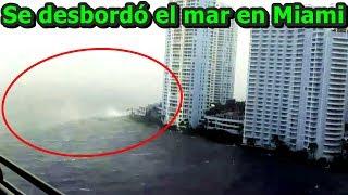 ¡INCREÍBLE! Huracán Irma desbordó el mar en Miami, Florida   Hurricane Irma overflows the sea Miami.