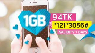 Grameenphone Offer : 1GB at Tk 94 for 7days