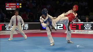 London 2017 World Taekwondo GP Semifinal Male -68kg Ahmad Abughaush(JOR) vs Alexey Denisenko(RUS)