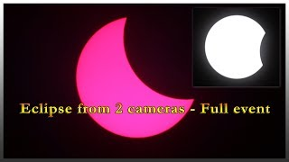 Eclipse from 2 Cameras, Full Spec, H Alpha - Full Event @ 3000 Times Speed