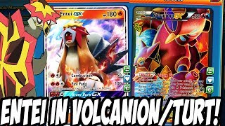 New Shining Legends Entei GX In Volcanion! Good Fire Support Tech Card For Volcanion? PTCGO