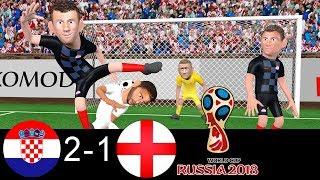 Croatia vs England 2-1   World Cup Semi-final 2018 🏆   Parody Goals ⚽ Trippier ⚽ Perisic ⚽ Mandzukic