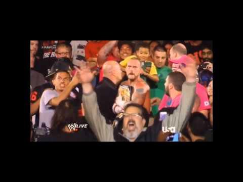 CM Punk Punches Fan - WWE RAW 10/8/12 (High Quality - HD)