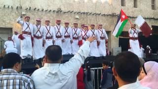 الدبكة الاردنية - مهرجان الربيع - سوق واقف - الدوحة . قطر