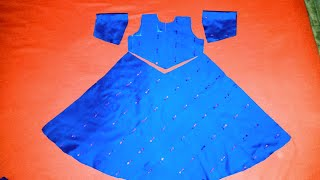 How to cut and stitch baby umbrella frock